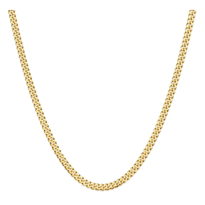 3mm Solid Gold Mens Chain - The Cuban - Product Image